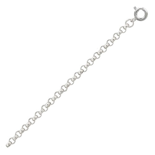 Wholesale Sterling Silver 925 High Polished Round Rolo 035 Anklets 2.3mm - CHA704