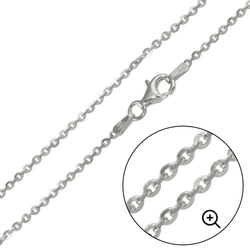 Wholesale Sterling Silver 925 Rhodium Plated Edge Rolo DC 040 Chain 1.4mm - CH224 RH