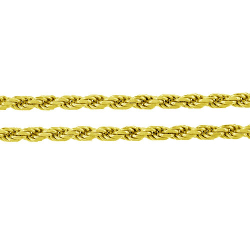 Wholesale Sterling Silver 925 Gold Plated Rope 100 Chain 4.4mm - CH395 GP