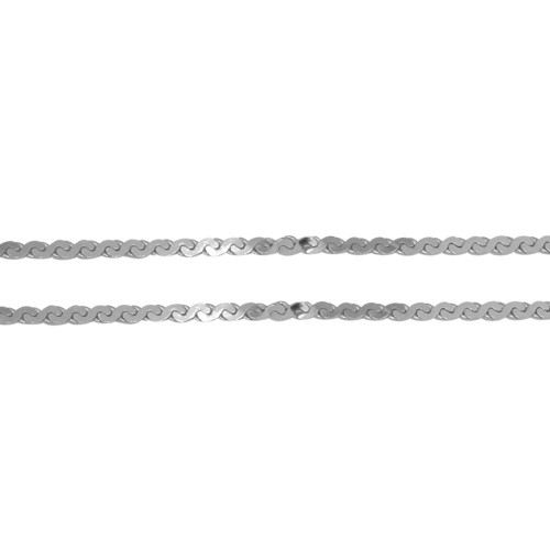 Wholesale Sterling Silver 925 Rhodium Plated Wave  Design Chain 0.8mm - CH413 RH