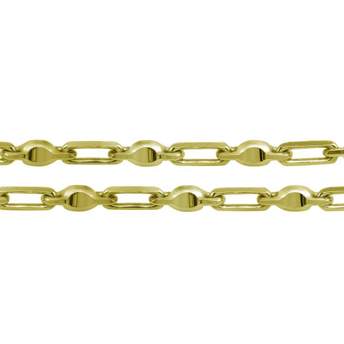 Wholesale Sterling Silver 925 Gold Plated Heshe Max Chain 6mm - CH477 GP
