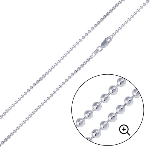 Wholesale Sterling Silver 925 High Polished Bead 180 Chain 1.8mm - CH506