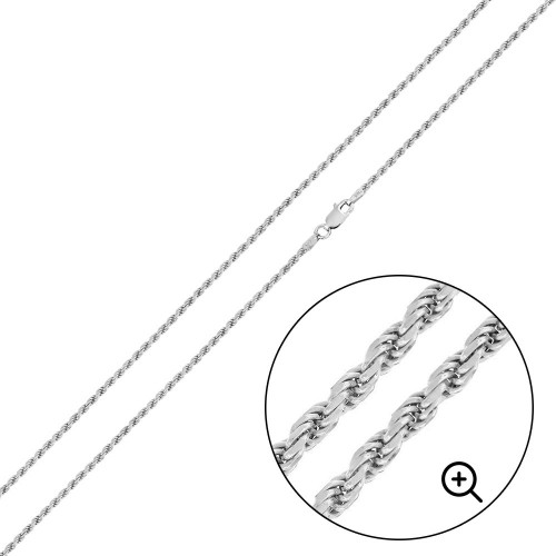 Wholesale Sterling Silver 925 High Polished Rope Chain 1.1mm - CH521