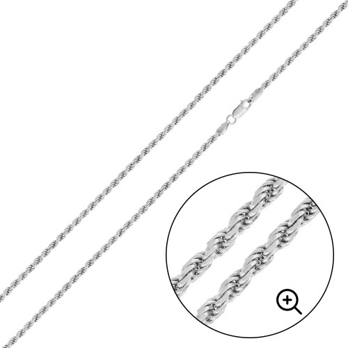 Wholesale Sterling Silver 925 High Polished Rope 040 Chain 2mm - CH524