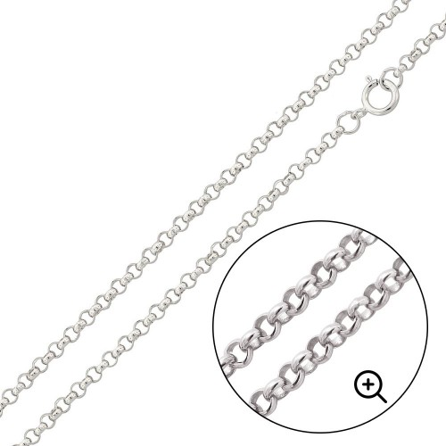 Wholesale Sterling Silver 925 High Polished Round Rolo 030 Chain 2mm - CH703