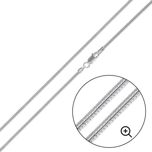 Wholesale Sterling Silver 925 High Polished Round Snake 025 Chain 1.2mm - CH729