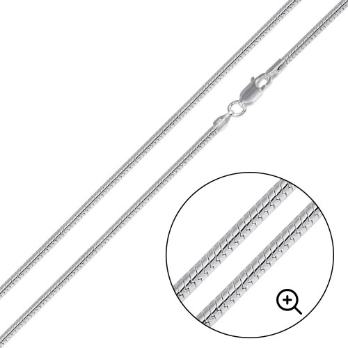 Wholesale Sterling Silver 925 High Polished Round Snake 040 Chain 1.6mm - CH731