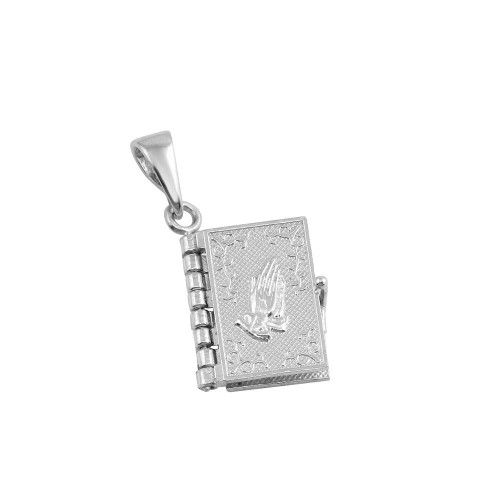 Wholesale Sterling Silver 925 Rhodium Plated Bible Charm - CHARM009-EN