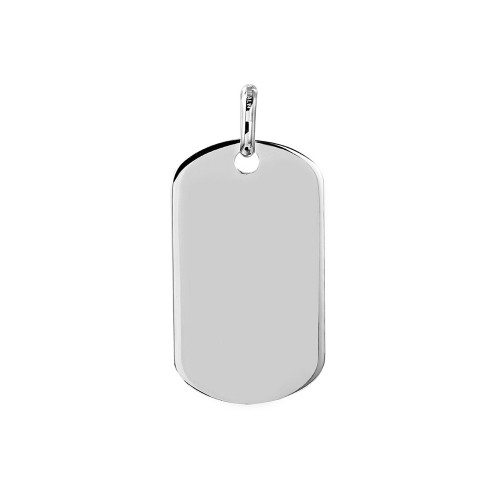 Wholesale Sterling Silver 925 Plain Dogtag 36mm x 20mm - DOGTAG12