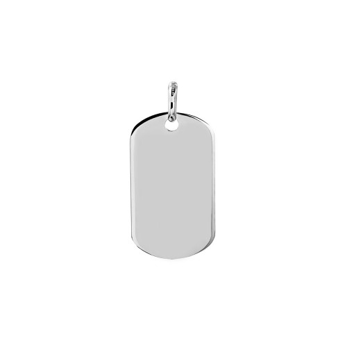 Wholesale Sterling Silver 925 Plain Dogtag 24mm x 13mm - DOGTAG13