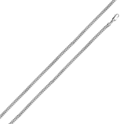 Wholesale Sterling Silver 925 Rhodium Plated Hollow Franco Chain 3.6mm - CHHW100 RH