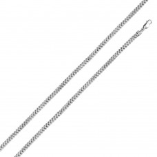 Sterling Silver Rhodium Plated Hollow Franco Chain 4.8mm - CHHW101 RH