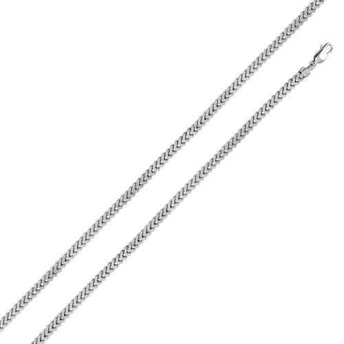 Wholesale Sterling Silver 925 Rhodium Plated Hollow Franco Chain 4.8mm - CHHW101 RH