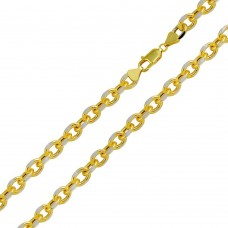 Wholesale Sterling Silver 925 Gold Plated DC Link Chain 8mm - CHHW115 GP