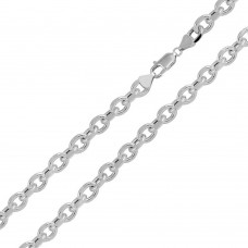 Sterling Silver Rhodium Plated DC Link Chain 8mm - CHHW115 RH