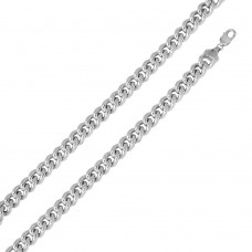 Wholesale Sterling Silver 925 Rhodium Plated Hollow Curb Chain 12.8mm - CHHW116 RH