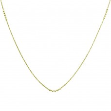 Wholesale Sterling Silver 925 Gold Plated DC Beaded Chain Necklace - CHN00002GP