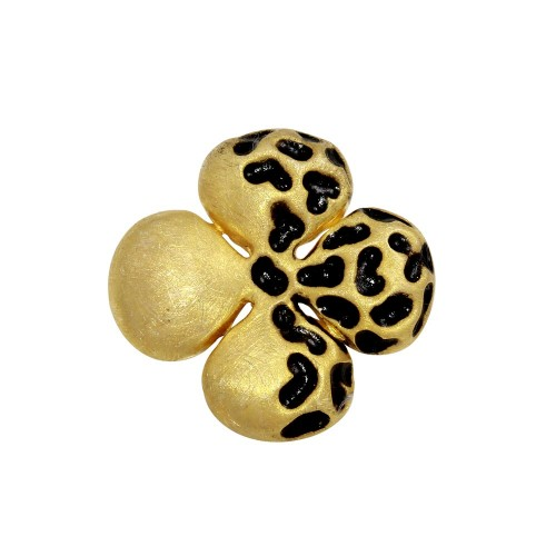 -Closeout- Wholesale Sterling Silver 925 Gold Plated Flower Pendant - P 640337