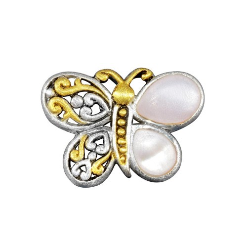 -Closeout- Wholesale Sterling Silver 925 Butterfly Pendant - P 65386