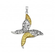 -Closeout- Wholesale Sterling Silver 925 Two-Toned Butterfly - P 66615