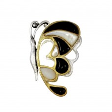 **Closeout** Wholesale Sterling Silver 925 Three-Toned Butterfly Pendant - PE 640303