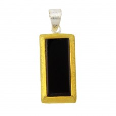 **Closeout** Wholesale Sterling Silver 925 Tri-Color Bar Pendant - P 640350