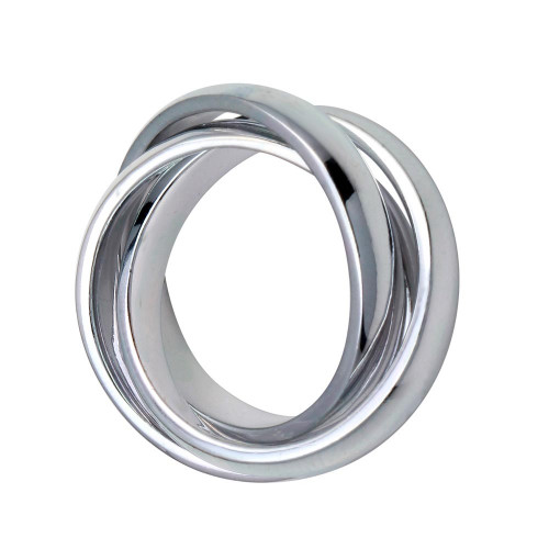 Wholesale Sterling Silver 925 High Polished 3 Band Rolling Ring - CR00713
