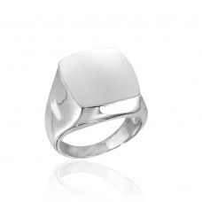 Wholesale Sterling Silver 925 High Polished Square Dome Ring - CR00737