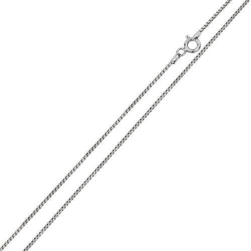 Wholesale Sterling Silver 925 Rhodium Plated Round Box 024 Chain 1.25mm - CH214 RH