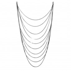 Wholesale Sterling Silver 925 Black Rhodium Plated Multiple Chain Necklace - ECN00031BLK