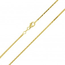 Wholesale Sterling Silver 925 Gold Plated Correana Chain 1.4mm - ECN00038GP
