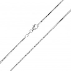 Wholesale Sterling Silver 925 Rhodium Plated Correana Chain 1.4mm - ECN00038RH