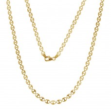 Wholesale Sterling Silver 925 Gold Plated Double Hole Link Necklace - ECN00039GP