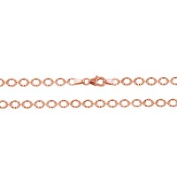 Wholesale Sterling Silver 925 Rose Gold Plated Link Chain Necklace - ECN00040RGP