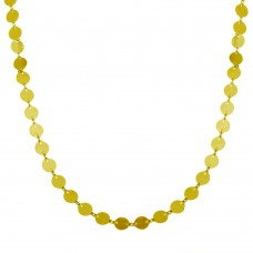 Wholesale Sterling Silver 925 Gold Plated Plain Confetti Necklace - ECN00044GP