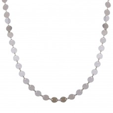 Wholesale Sterling Silver 925 Rhodium Plated Plain Confetti Necklace - ECN00044RH