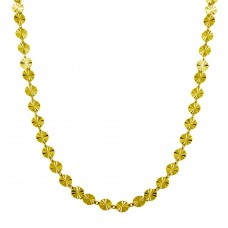 Wholesale Sterling Silver 925 Gold Plated Confetti Necklace - ECN00045GP