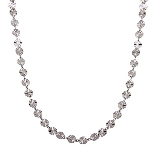Wholesale Sterling Silver 925 Rhodium Plated Confetti Necklace - ECN00045RH