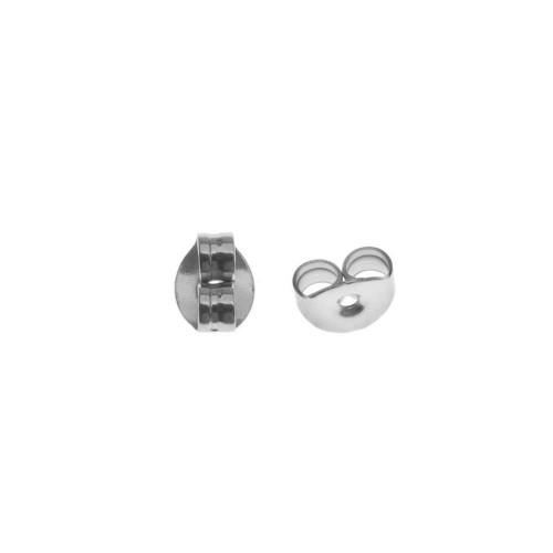 Wholesale Sterling Silver 925 High Polished Earring Backing 10 pairs/pack - FINDING01