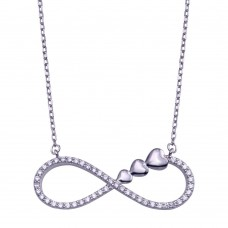 Wholesale Sterling Silver 925 Sterling Silver Infinity Necklace - GMN00177
