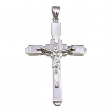 Wholesale Sterling Silver 925 Rhodium Plated Cross Pendant - GMP00048