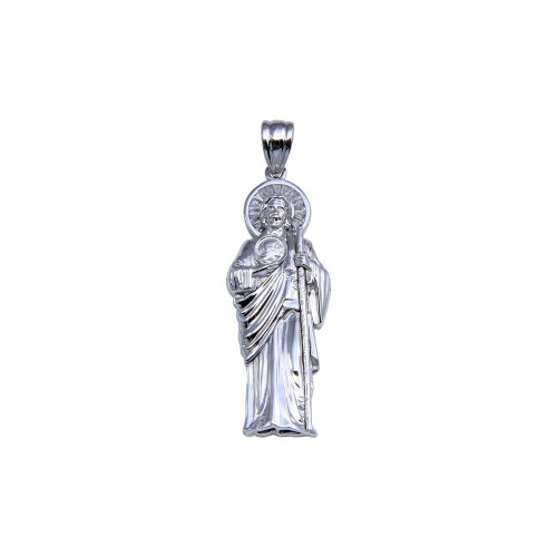 Wholesale Sterling Silver 925 Rhodium Plated St Jude Pendant 42mm - GMP00080