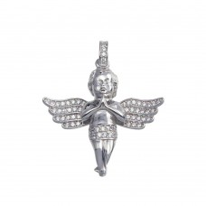 Wholesale Sterling Silver 925 Angel Baby CZ Pendant - GMP00070