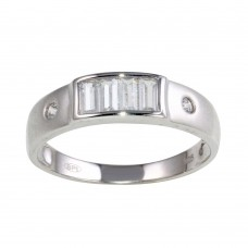 Wholesale Sterling Silver 925 Rhodium Plated CZ Ring - GMR00119