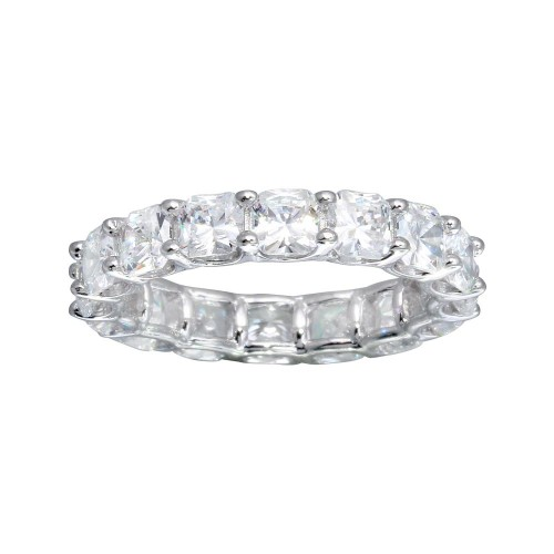 Wholesale Sterling Silver CZ Eternity Band Ring - GMR00270