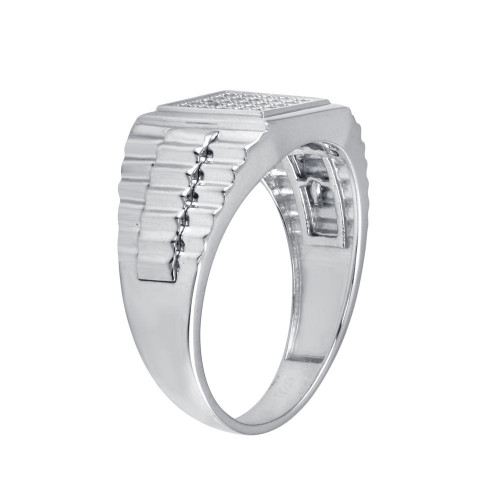 Wholesale Sterling Silver 925 Rhodium Plated Square CZ Ring - GMR00314