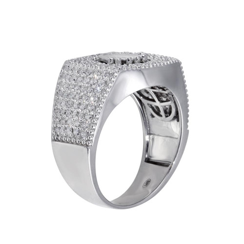 Wholesale Sterling Silver 925 Rhodium Plated Crown CZ Ring - GMR00317