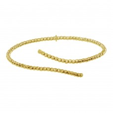 Wholesale Sterling Silver 925 Gold Plated DC Bead Cuff Bracelet - ITB00217GP