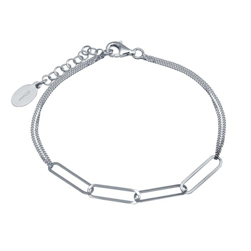 Wholesale Sterling Silver 925 Rhodium Plated Thin Curb Link Chain Bracelet - ITB00313-RH