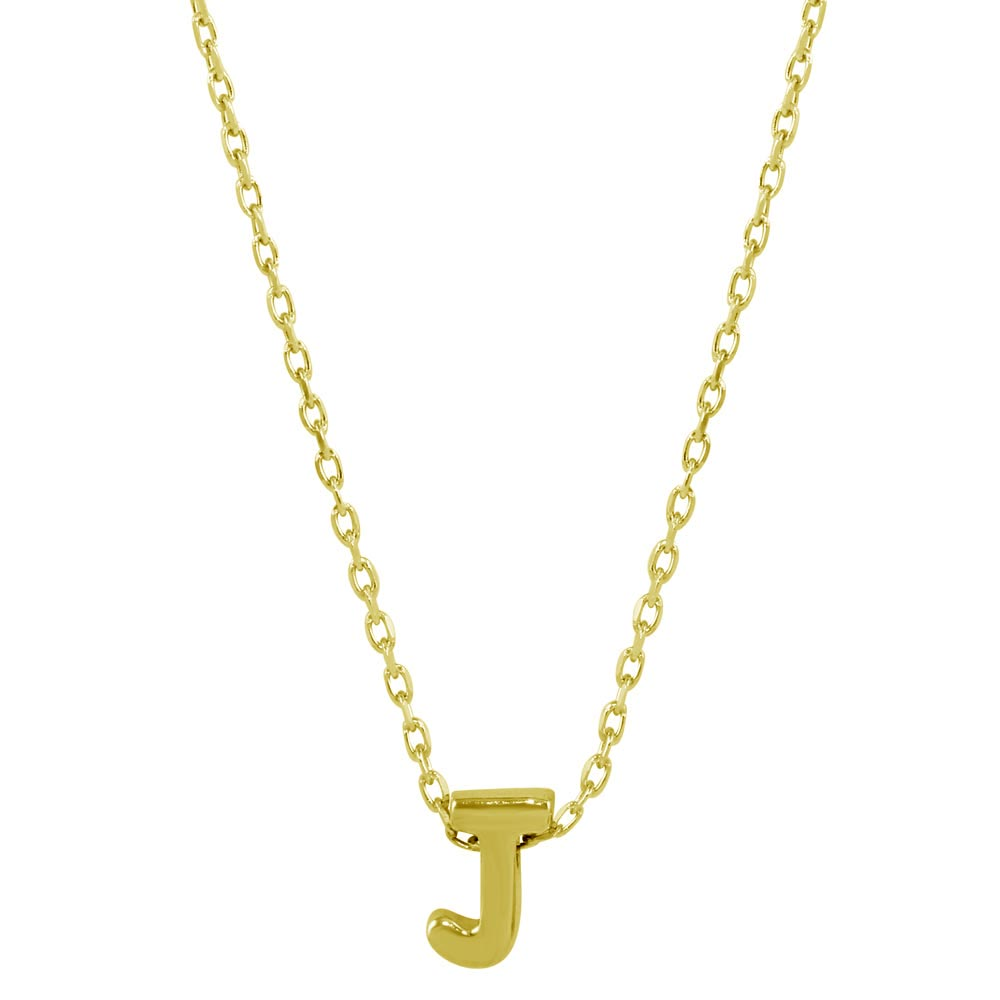 Sterling silver gold plated small initial j necklace sterling silver gold plated small initial j necklace jcp00001gp j aloadofball Gallery